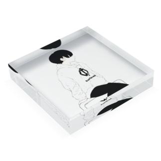 TWsパーカーの女の子 Acrylic Block