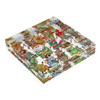 ざわつく動物たち Acrylic Block