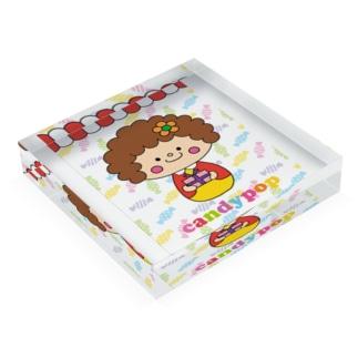 zakkashop candypop のcandyちゃん Acrylic Block