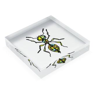 ant☆(あり)カラーバージョン Full of vitality (フル オブ バイタリティ) Acrylic Block