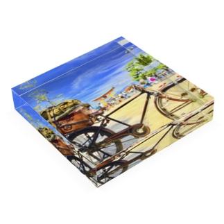 厳島神社と重量運搬車 Acrylic Block