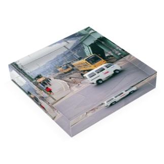 """東京都:都電荒川線王子駅前停留所 Tokyo: """"Toden"""" at Oji-ekimae stop Acrylic Block"""
