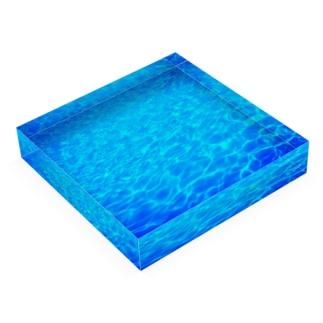 Blue world Acrylic Block