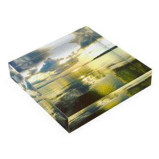 mizuphoto.comの鏡の世界 Acrylic Blockの平置き