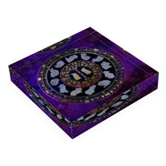 兎星座盤彩色 Acrylic Block