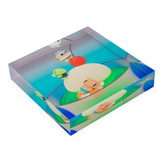 CREAM SODA ISLAND Acrylic Block