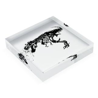 水墨画ティラノサウルス Acrylic Block