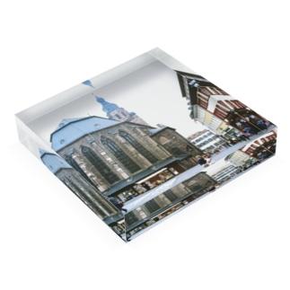 ドイツ:ハイデルベルク旧市街の精霊教会 Germany: Heiliggeistkirche am Heidelberg Acrylic Block