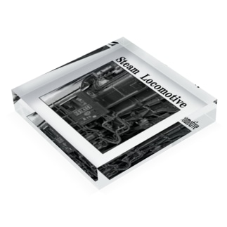 D51498 運転席周辺 黒いレタリング (モノクロフォト) Acrylic Block
