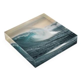 Wave008 Acrylic Block