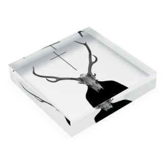 Bone&Cross Acrylic Block