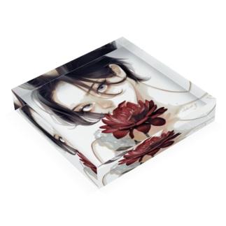 dahlia Acrylic Block