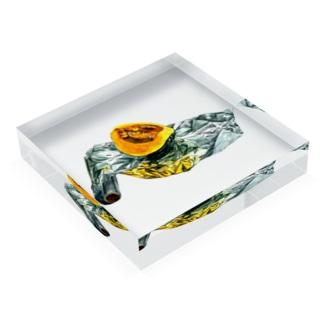 かぼちゃとアルミホイル(枠なしver) Acrylic Block