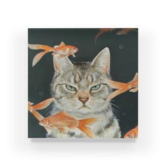 金魚と猫 Acrylic Block