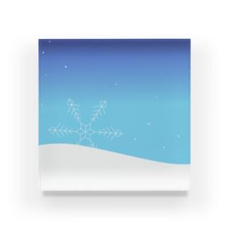雪の世界 Acrylic Block