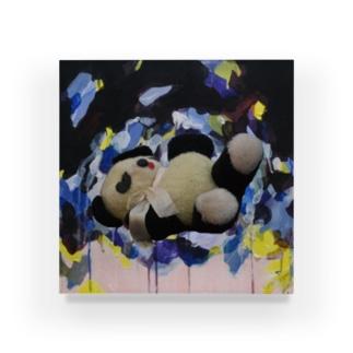 眠らないパンダ Acrylic Block