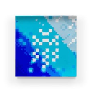 "𐑖ܟ𐑛ꠧ"" Acrylic Block"