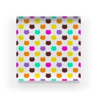ねこドット Acrylic Block