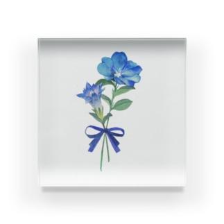 青い花 Acrylic Block