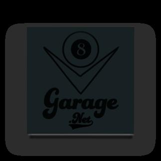 8garage SUZURI SHOPの8garageロゴ V8 Black Acrylic Block