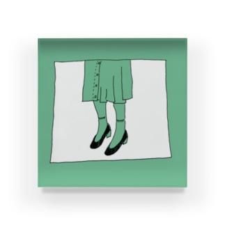 ふくとくつ Acrylic Block