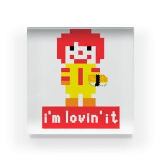 ピクセルアート パロディ i'm lovin' it Acrylic Block