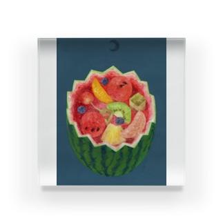 フルーツパンチの泉 Acrylic Block