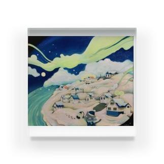 真夏の雪景色 Acrylic Block