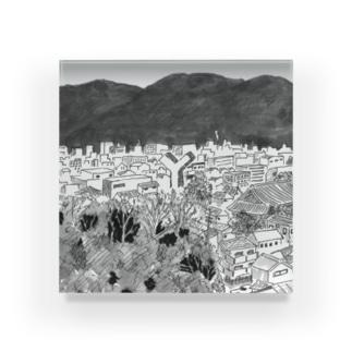 Y-town Acrylic Block