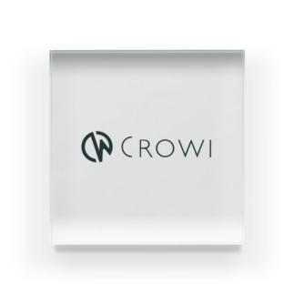 Crowi Letter Logo Acrylic Block