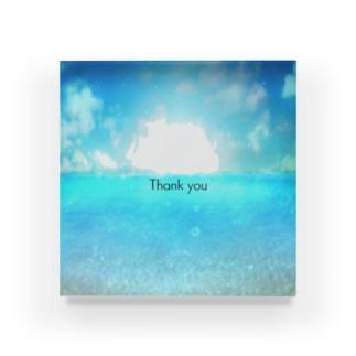 Sea2 Thank you Acrylic Block