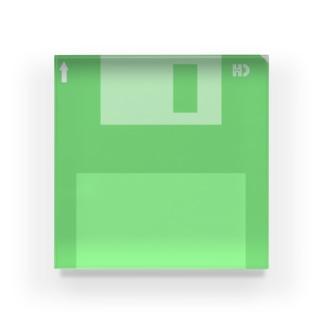 アクリルフロッピー(0バイト) Acrylic Block