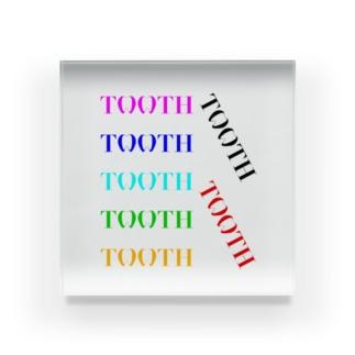 Tooth logoカラフル アクリルブロック
