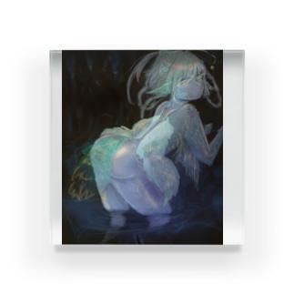 鍾乳洞の妖精 Acrylic Block