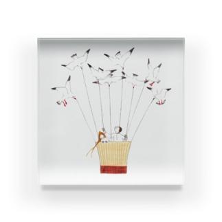 ユリカモメの気球 Acrylic Block