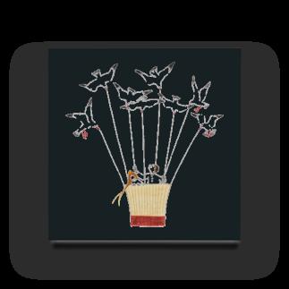 ヤマムラ エツコのユリカモメの気球 Acrylic Block