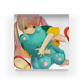 くま Acrylic Block
