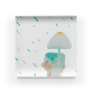 気まぐれな雨 Acrylic Block