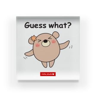 くまのココ(Guess what?) Acrylic Block