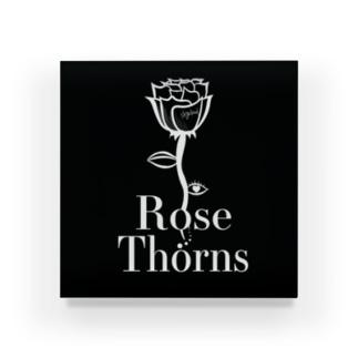 RoseThorns logo Acrylic Block