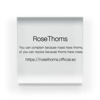 RoseThorns simple logo Acrylic Block