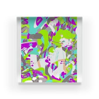 コンセントサメ Acrylic Block