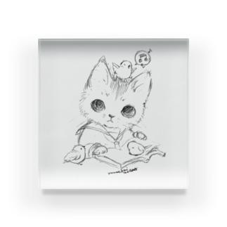 """Drawing """"cat"""" Acrylic Block"""
