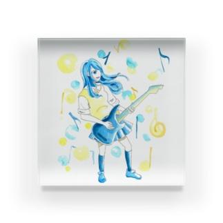 ギター少女 Acrylic Block