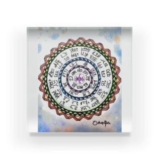 フトマニ図カラー Acrylic Block