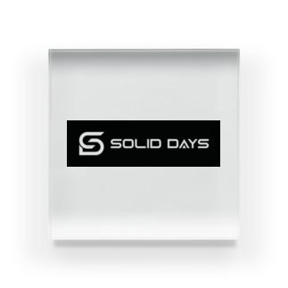 SOLID DAYS 2019 ボックスロゴ Acrylic Block