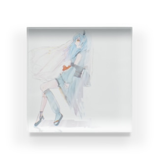 椿さん Acrylic Block