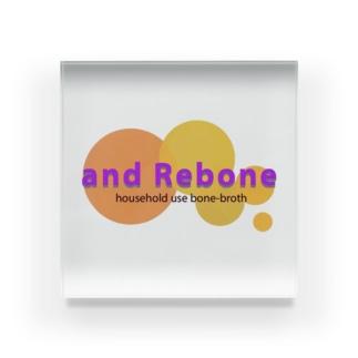 and Rebone Acrylic Block