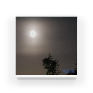 平成最後の満月 Acrylic Block