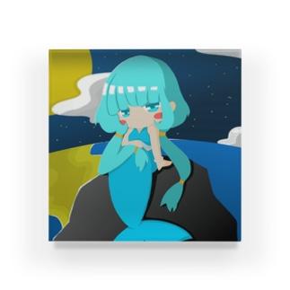 月夜の人魚 Acrylic Block